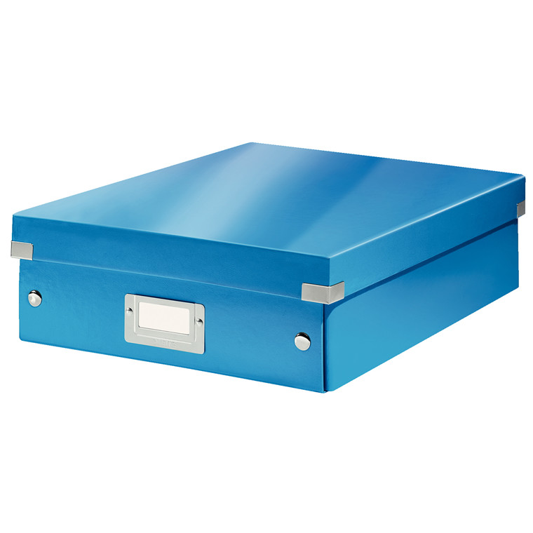 Opbevaringskasse 28 x 37 x 10 cm Leitz Click & Store - Blå