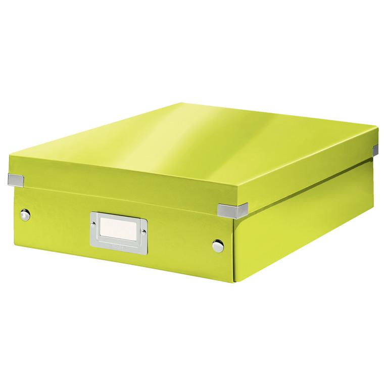 Opbevaringskasse 28 x 37 x 10 cm Leitz Click & Store - Grøn