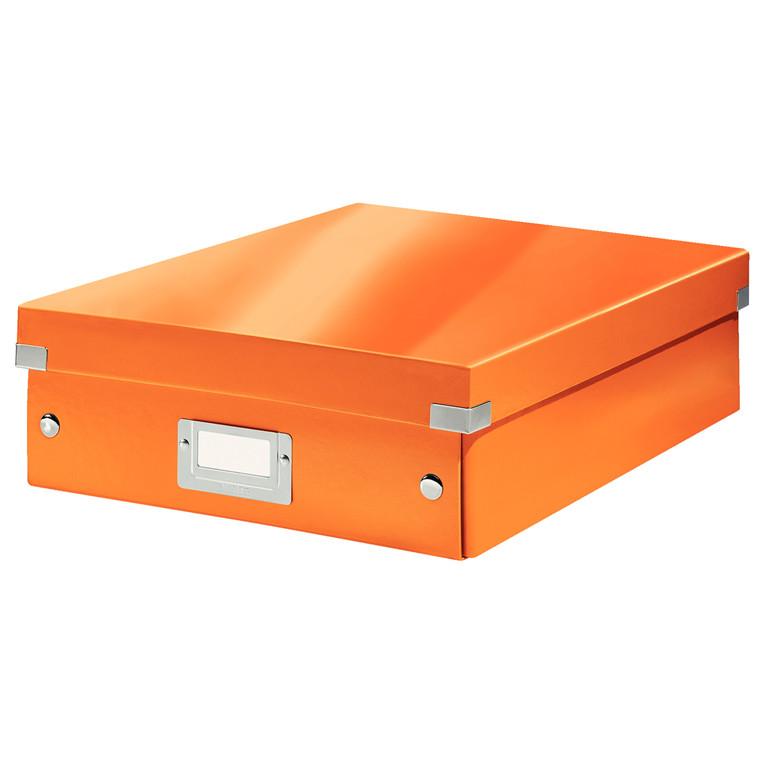 Opbevaringskasse 28 x 37 x 10 cm Leitz Click & Store - Orange