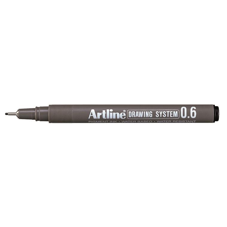 Fiberpen Artline EK236 sort 0,6mm