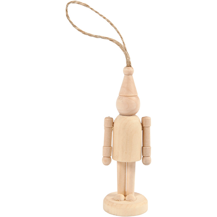 Figur, nissehue, H: 9 cm, birk, 1stk.