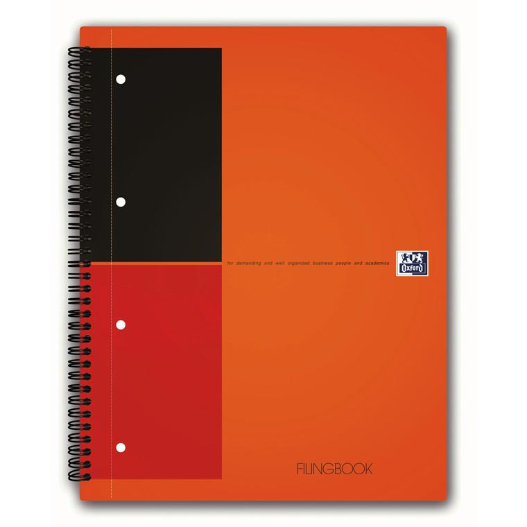 Oxford Filing Book A4+ International - 100 linjeret  sider