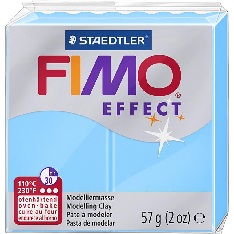 FIMO ler Effect, neon blå, 57g
