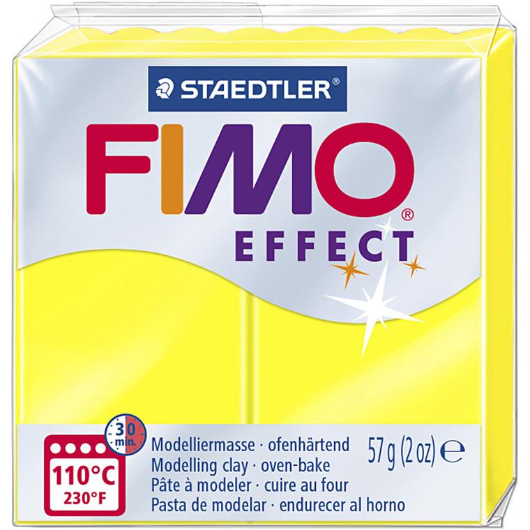 FIMO ler Effect, neon gul, 57g