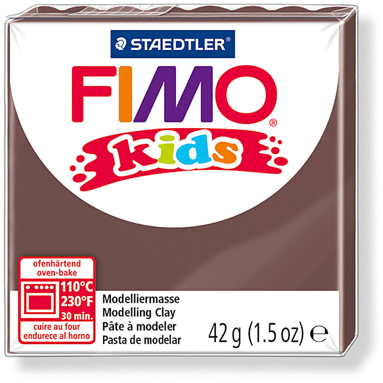 FIMO® Kids ler brun - 42 gram