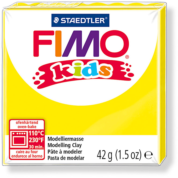 FIMO® Kids ler gul - 42 gram