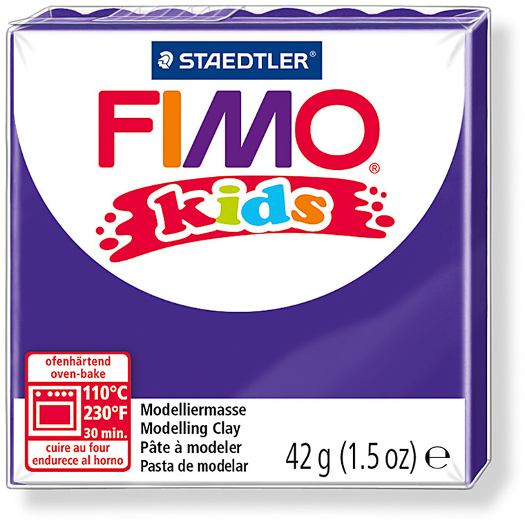 FIMO® Kids ler lilla - 42 gram