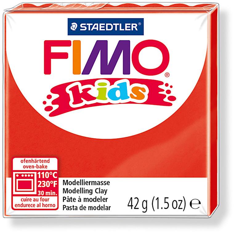 FIMO® Kids ler rød - 42 gram