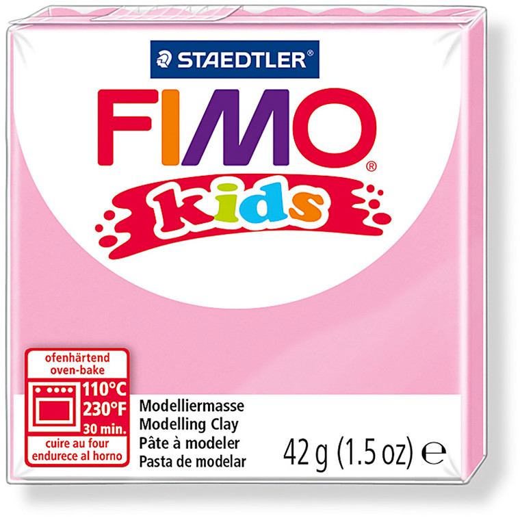 FIMO® Kids ler rosa - 42 gram