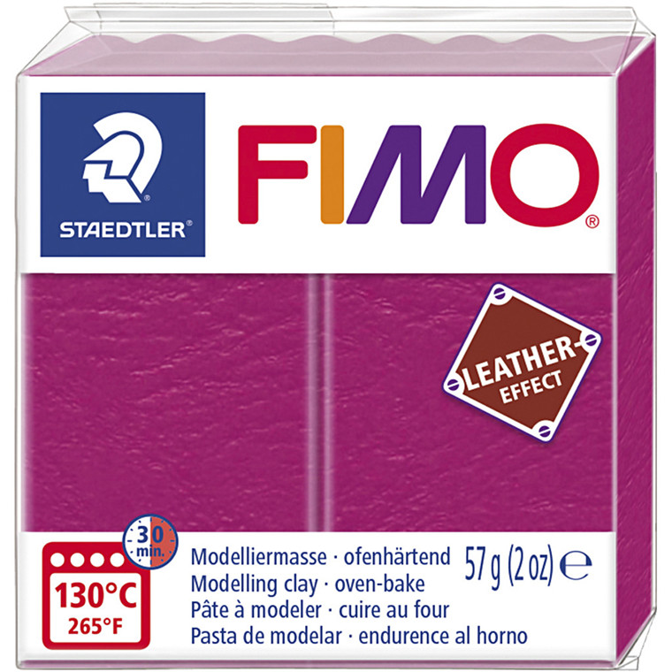 FIMO® Leather Effect , berry (229), 57g