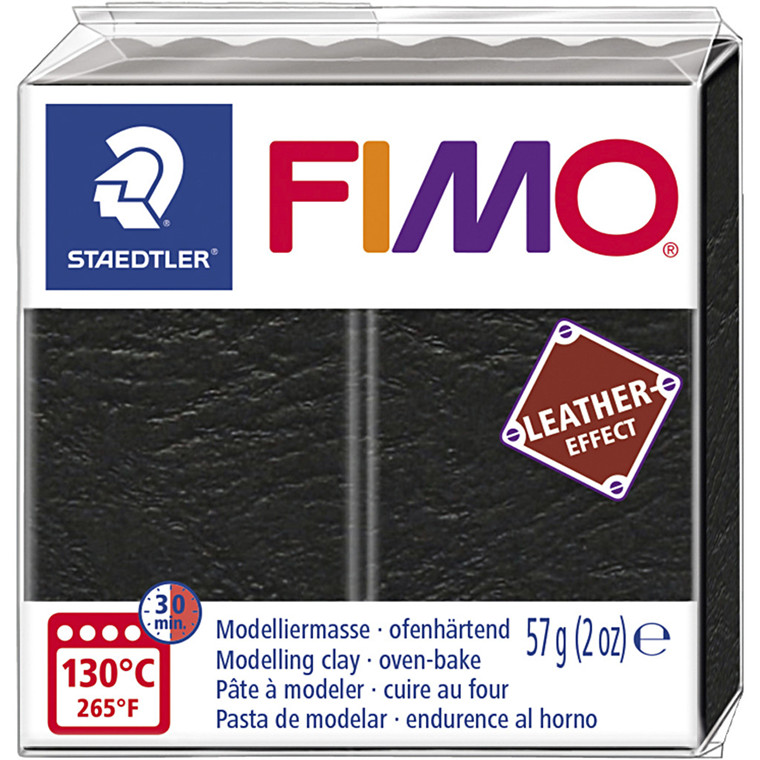 FIMO® Leather Effect , black (909), 57g