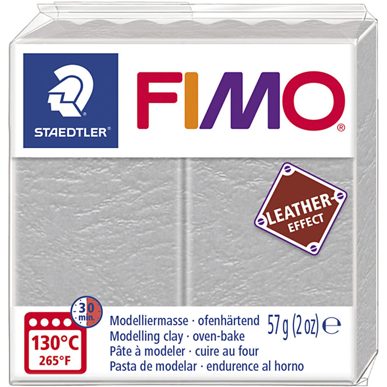 FIMO® Leather Effect , dove grey (809), 57g