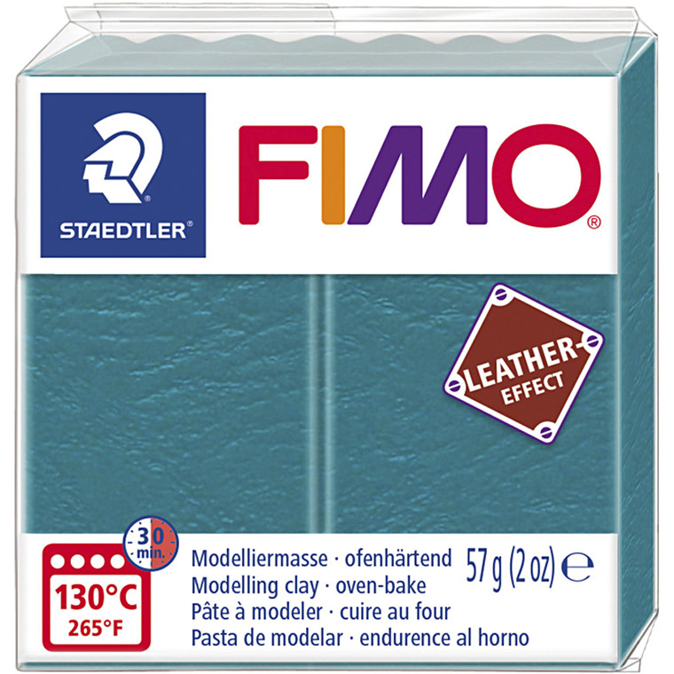 FIMO® Leather Effect , lagoon (369), 57g