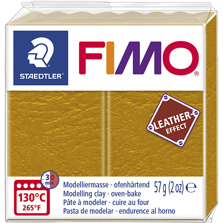 FIMO® Leather Effect , ochre (179), 57g