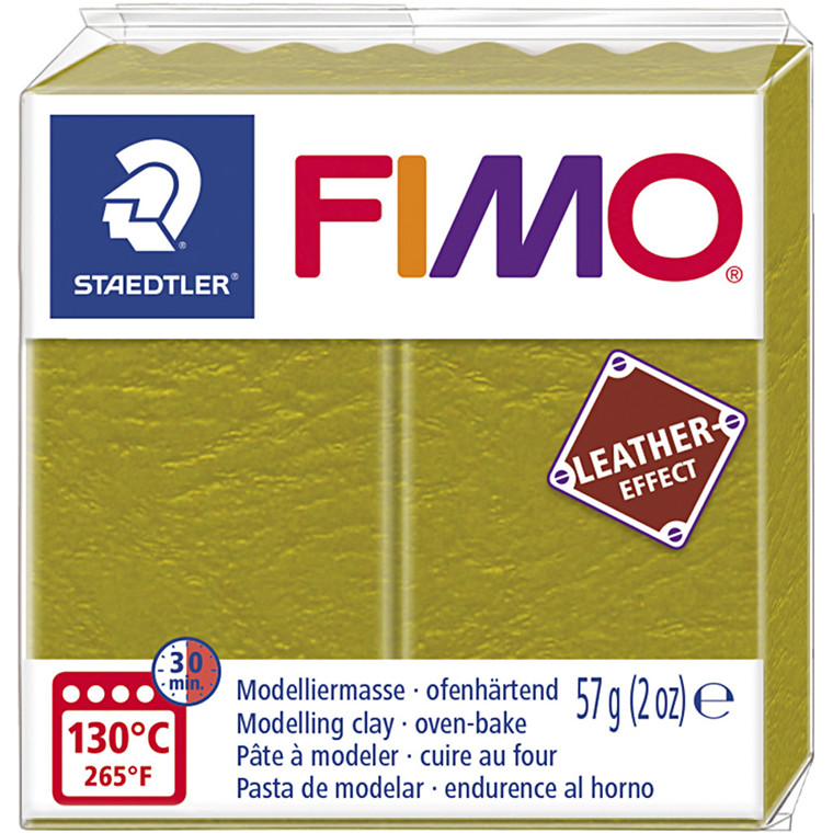 FIMO® Leather Effect , olive (519), 57g