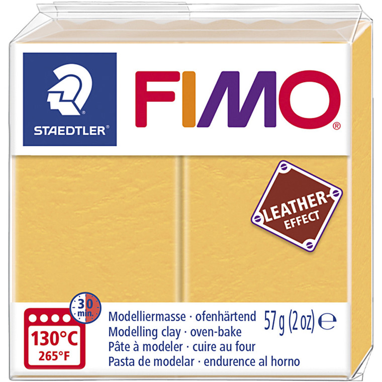 FIMO® Leather Effect , saffran yellow (109), 57g