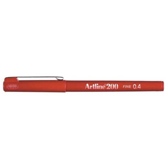 Fineliner Artline 200 Fine 0.4 rød