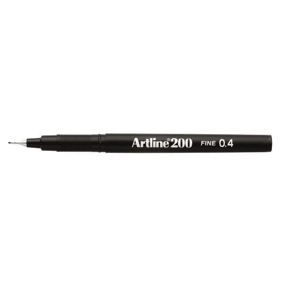 Fineliner Artline 200 Fine 0.4 sort