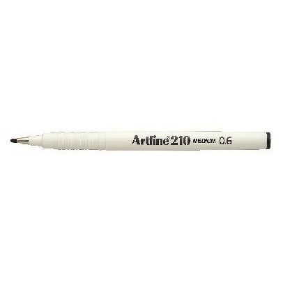 Fineliner Artline 210 M 0.6 sort