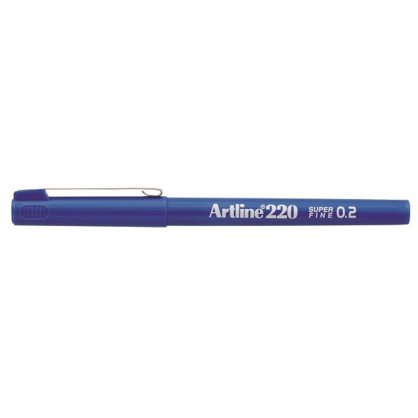 Fineliner Artline 220 SF 0.2 blå