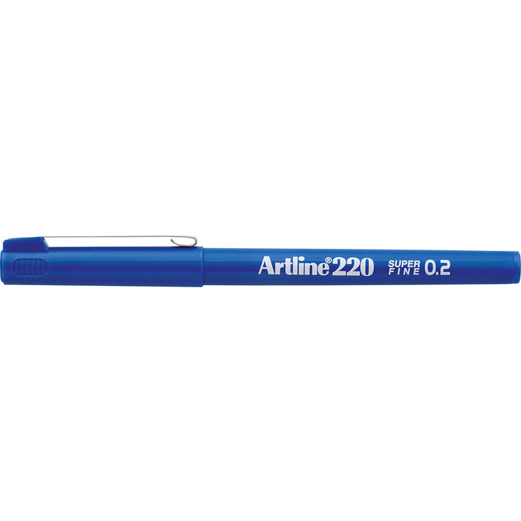 Artline 220 Fineliner - Superfine blå 0,2 mm