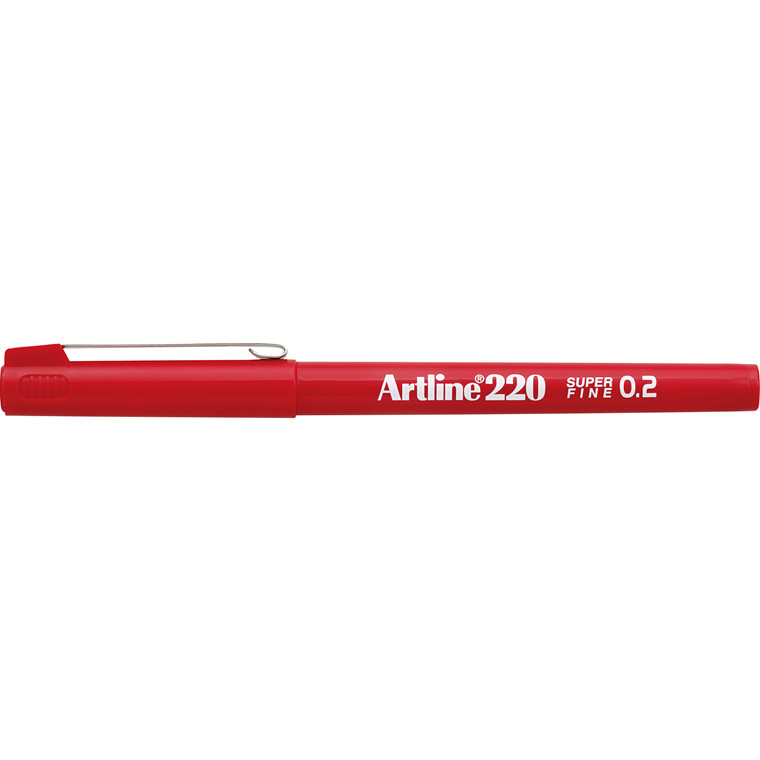 Artline 220 Fineliner - Superfine rød 0,2 mm streg
