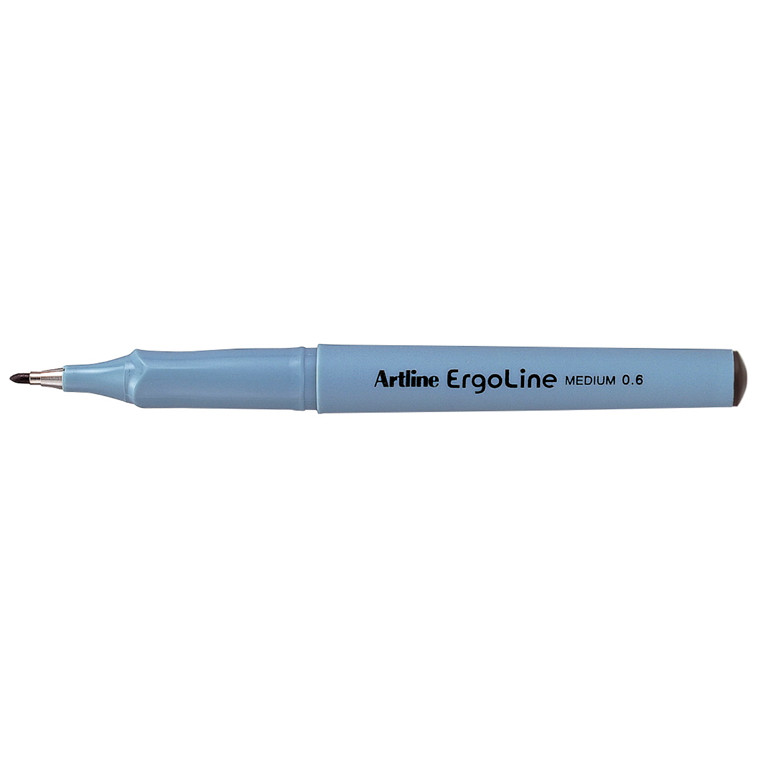 Artline Ergoline ERG3600 - Sort Fineliner 0,6 mm medium streg