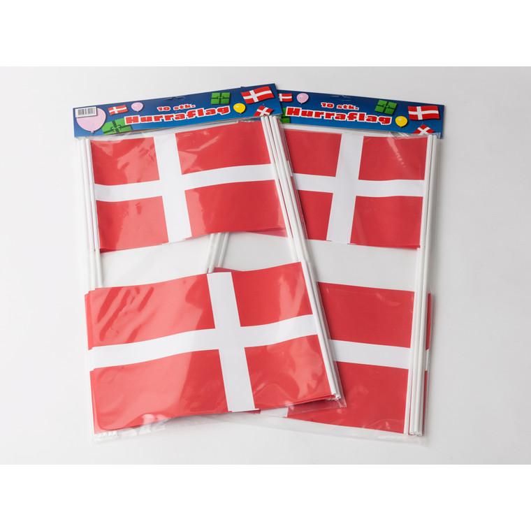 Flag papir på pind 20 x 27 cm - 10 stk.