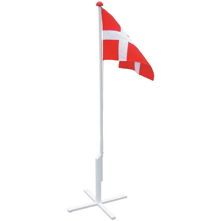 Flagstang 180cm m. fod, flagline, hejs og flag