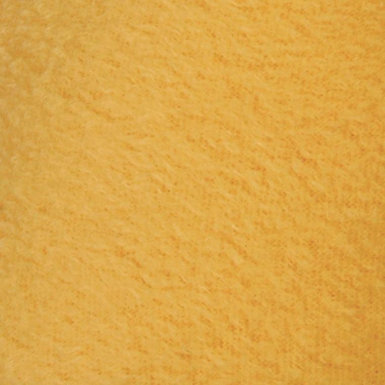 Fleece længde 125 cm bredde 150 cm gul   200 g/m2