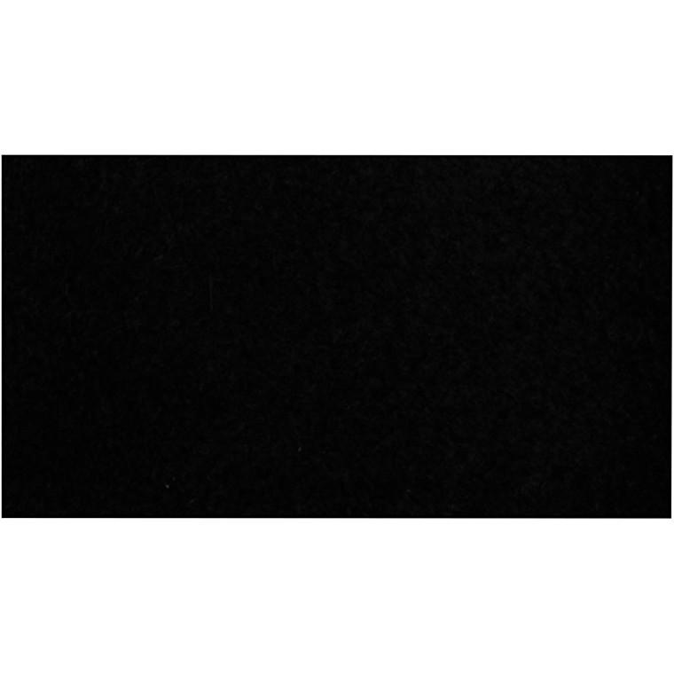 Fleece længde 125 cm bredde 150 cm sort   200 g/m2