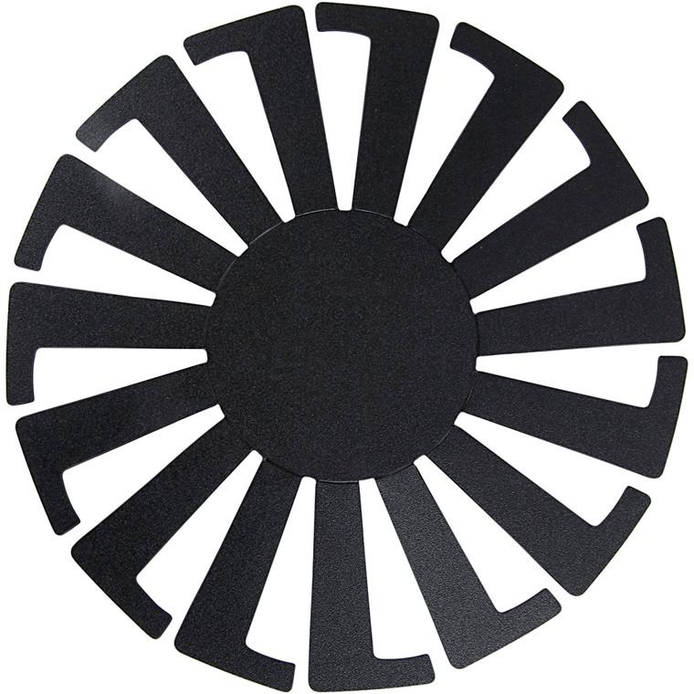 Flet-let-skabelon, dia. 14 cm, H: 8 cm, sort, 10stk.