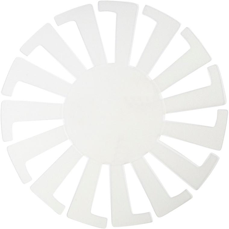 Flet-let-skabelon diameter 14 cm Højde 8 cm transparent - 10 stk.