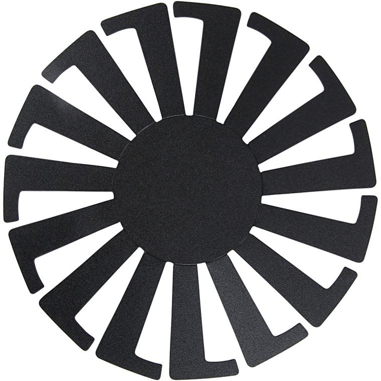 Flet-let-skabelon, dia. 8 cm, H: 6 cm, sort, 10stk.
