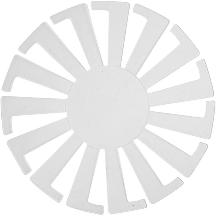 Flet-let-skabelon, dia. 8 cm, H: 6 cm, transparent, 10stk.