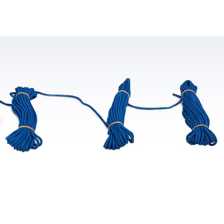Flisesnor i blå med hjerte - 5 mm 10 x 10 meter
