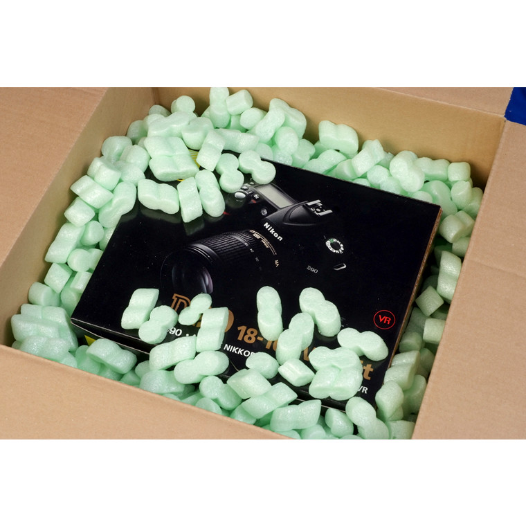Flo-pak pakkefyld grøn antistatisk 500l/sæk