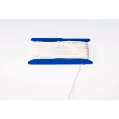 Flugtsnor hvid 4mmx10m vindsel m/håndtag