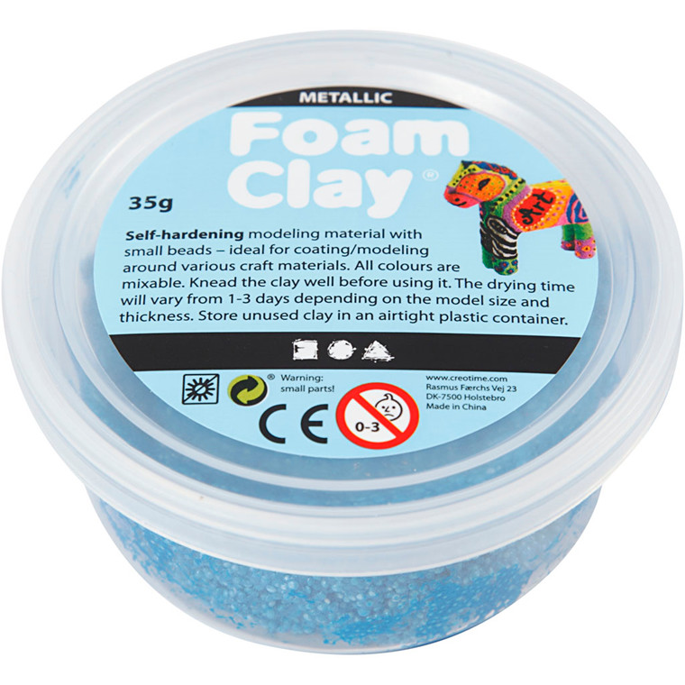 Foam Clay® blå metallic | 35 gram