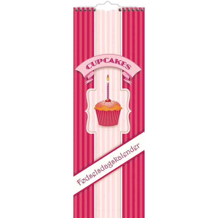 Fødselsdagskalender Cupcake 12,5 x 36,5 cm