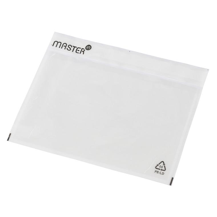 Følgeseddelslomme Master'In 175X117mm C6 transparentparent 500stk/kar