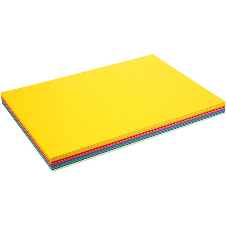 Forårskarton A2 420 x 600 mm 180 gram assorteret farver - 20 ark