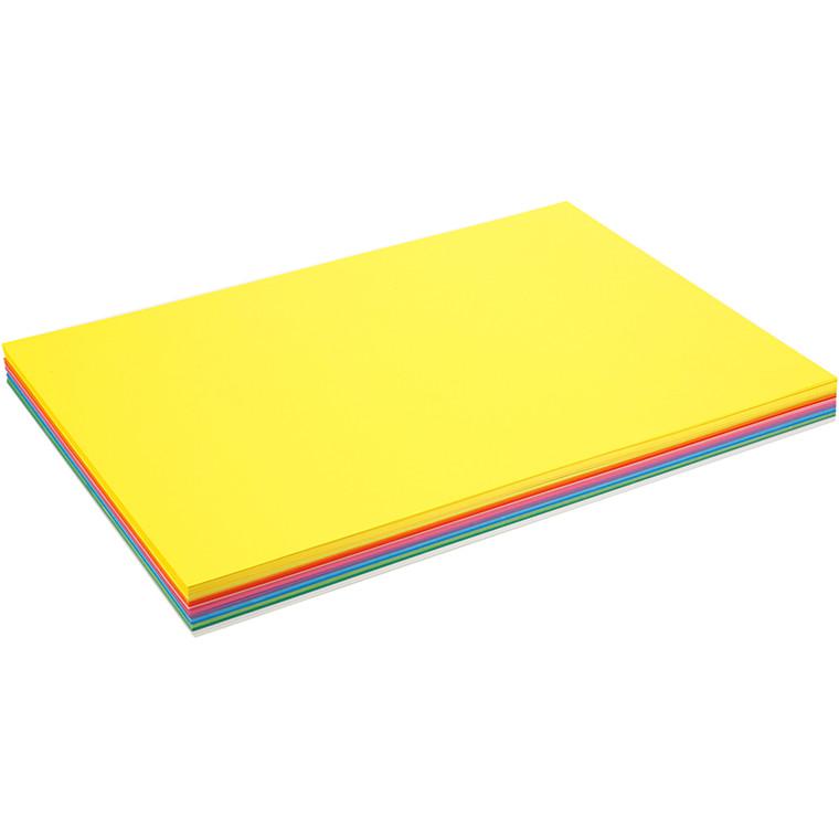 Forårskarton, A2 420x600 mm, 180 g, forårsfarver, 20ark