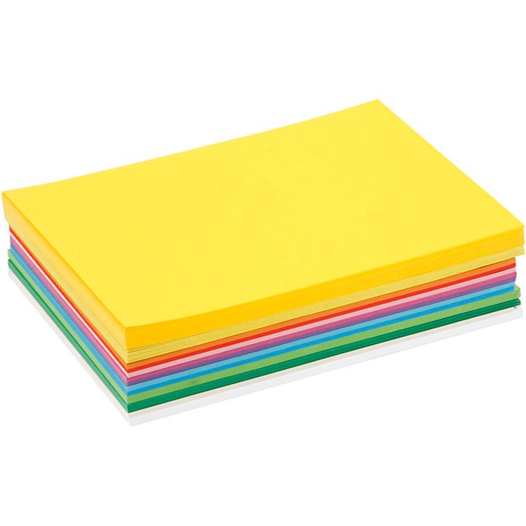 Forårskarton, A5 15x21 cm, 180 g, ass. farver, 300ass. ark