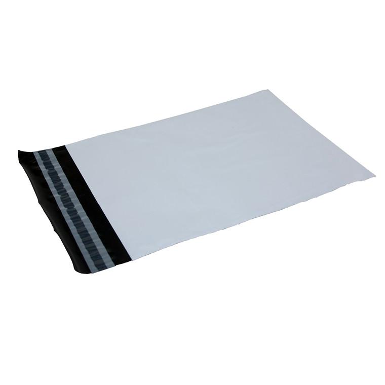 Forsendelsesposer i hvid 60 my PE - 550 x 770 mm 100 stk