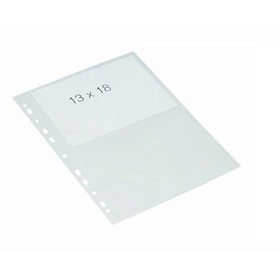 Fotolomme 13x18 cm - Bantex A4 glasklar plastlomme med 4 rum - 10 stk i pakke