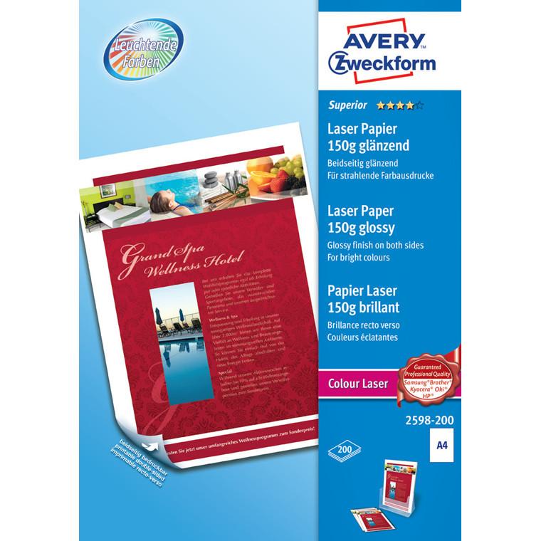 Fotopapir inkjet A4 150g gloss superior 2-siders 200ark/pak