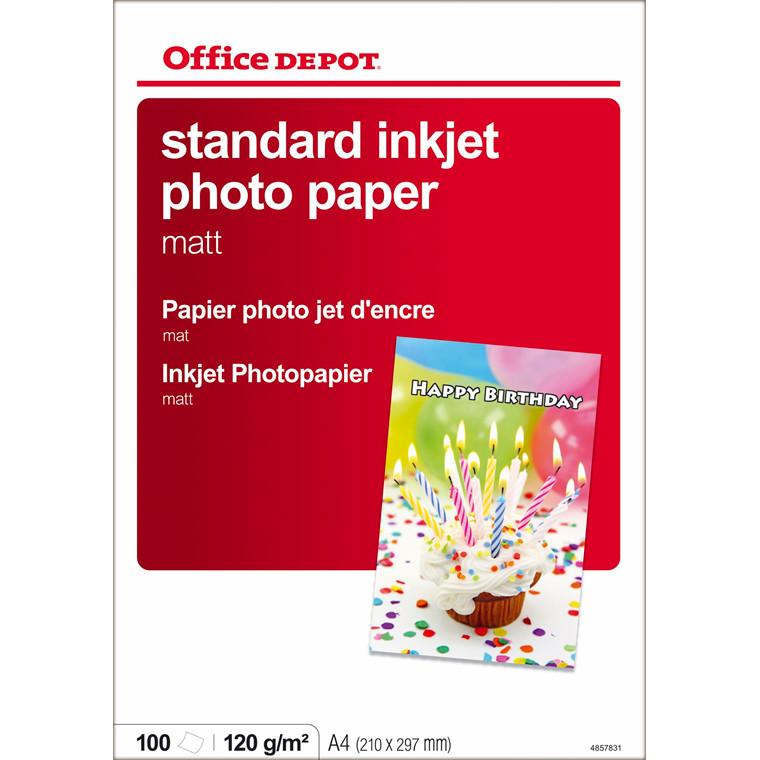 Fotopapir - inkjet OD 120 gram A4 Matt - 100 ark
