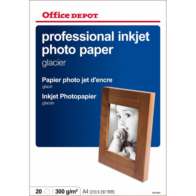 Fotopapir - inkjet OD 280 gram A4 Gloss 20 ark