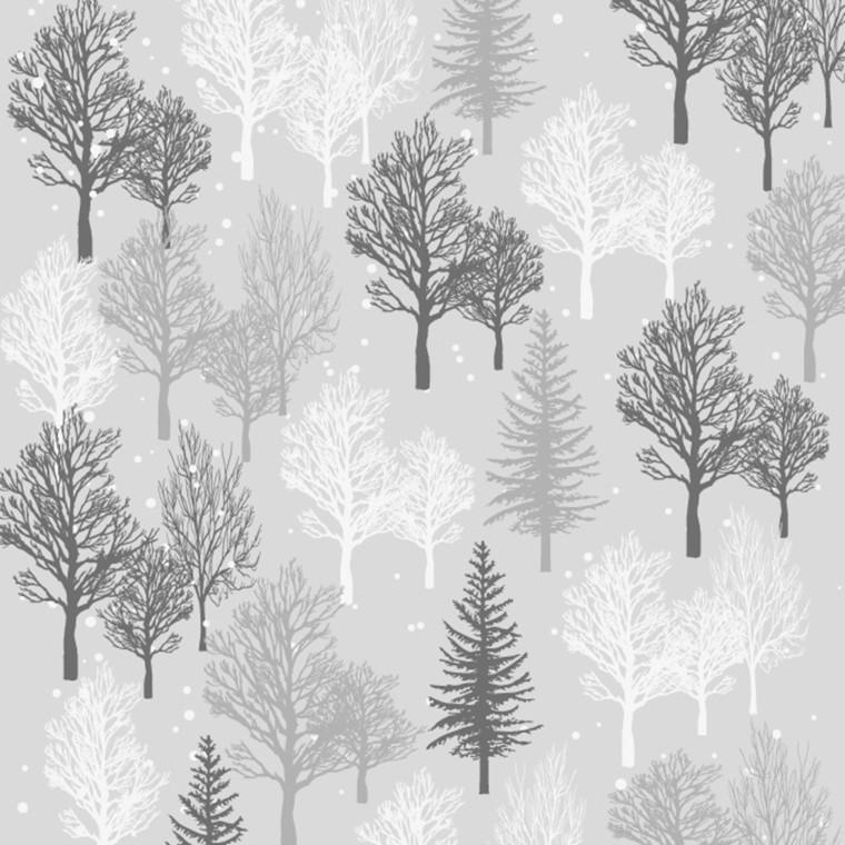 Frokostserviet, Abena Gastro-Line, Winter Elegance, 3-lags, 1/4 fold, 33x33cm, flerfarvet, papir